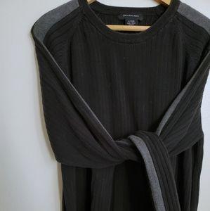 Calvin Klein Jeans | Black w/ Charcoal Sweater